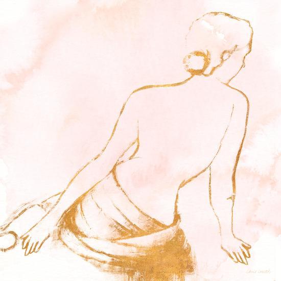 Seated Woman Rose Gold-Lanie Loreth-Art Print