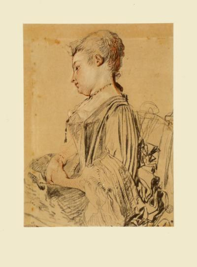 Seated Woman-Antoine Watteau-Collectable Print