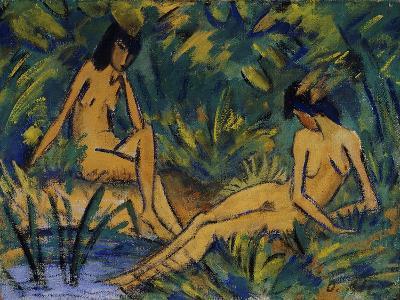 Seated Women by Water; Sitzende Madchen Am Wasser, C. 1914-16-Otto Muller or Mueller-Giclee Print