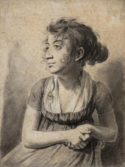Seated Young Woman-Louis Leopold Boilly-Giclee Print