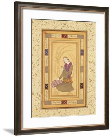Seated Youth Holding a Cup, from the Large Clive Album, C.1610-20-Persian School-Framed Giclee Print