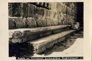 Seats in Byzantine Synagogue, Capernaum, Israel