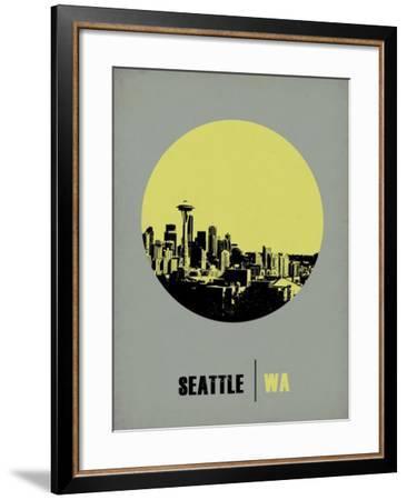 Seattle Circle Poster 2-NaxArt-Framed Art Print