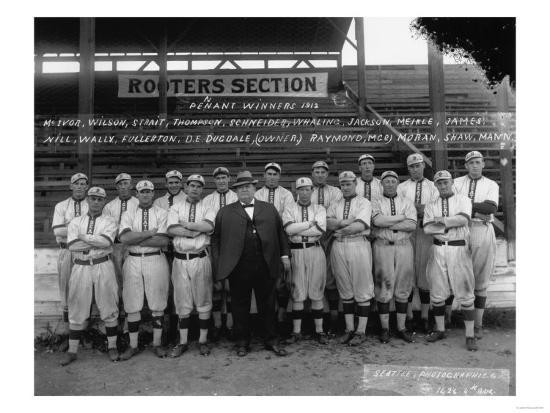 Seattle Giants with Daniel Dugdale Photograph - Seattle, WA-Lantern Press-Art Print