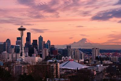 Seattle in Pink-Aaron Eakin-Photographic Print