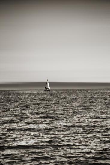 Seattle, Sailboat in Elliott Bay-Savanah Stewart-Photographic Print