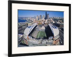 Seattle Seahawks Quest Field Framed Art Print By Art Com