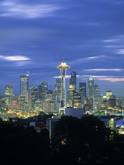 Seattle Skyline Fr. Queen Anne Hill, Washington, USA-Walter Bibikow-Photographic Print
