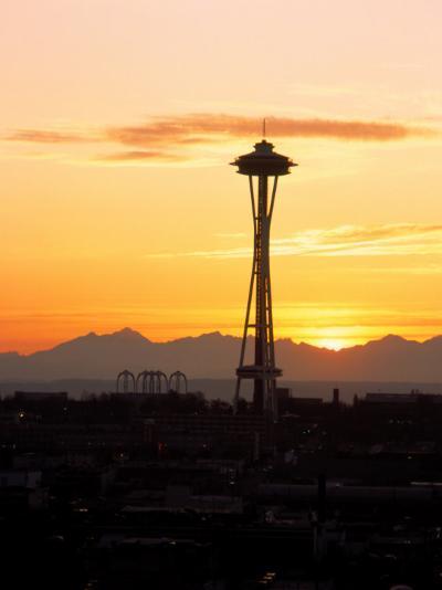 Seattle Space Needle, WA-George White Jr^-Photographic Print