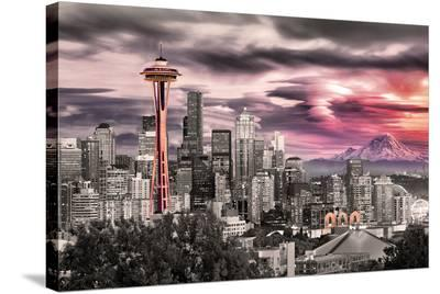 Seattle - Space Needle--Stretched Canvas Print