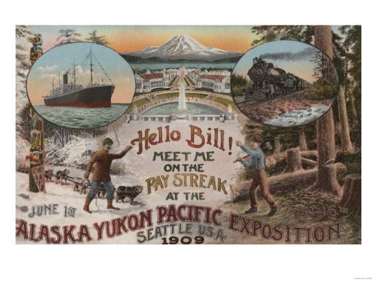 Seattle, WA - AD for Alaska Yukon Pacific Expo.-Lantern Press-Art Print