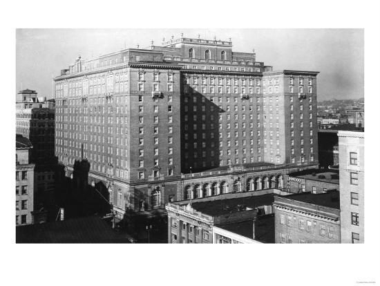 Seattle, WA View of Olympic Hotel Downtown Photograph - Seattle, WA-Lantern Press-Art Print