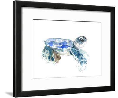 Seaturtle-Suren Nersisyan-Framed Art Print