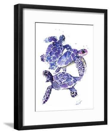 Seaturtles-Suren Nersisyan-Framed Art Print