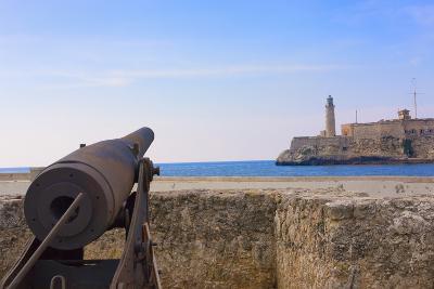 Seawall, El Morro Fort, Fortification, Havana, UNESCO World Heritage Site, Cuba-Keren Su-Photographic Print