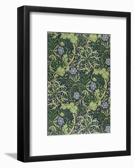 Seaweed Wallpaper Design, printed by John Henry Dearle-William Morris-Framed Giclee Print