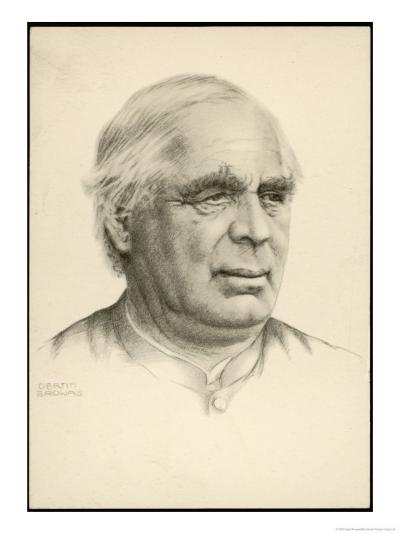 Sebastian Kneipp Bavarian Priest Promoter of Hydropathy (Cold Water Cure) and Herbalism-Gertin Browais-Giclee Print