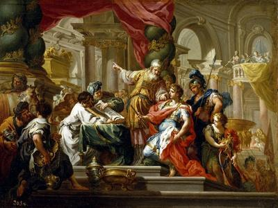 Alexander the Great in the Temple of Jerusalem, 1736