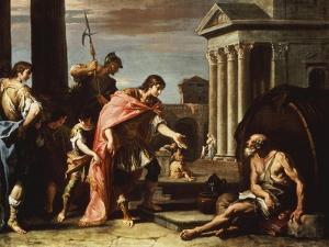 Alexander and Diogenes by Sebastiano Ricci