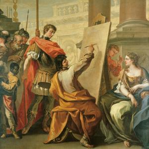 Apelles Making a Portrait of Pancaspe by Sebastiano Ricci