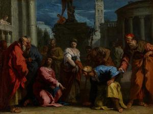 Christ and the Woman Taken in Adultery, C.1710 by Sebastiano Ricci