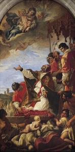 Intercession of Our Lady by Pope Gregory the Great, 1699 by Sebastiano Ricci
