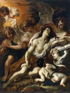 Saint Mary Magdalen Surrounded by Angels by Sebastiano Ricci
