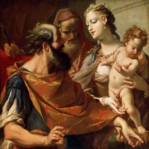The Child Moses Trampling on the Pharaoh's Crown, C1685-C1687 by Sebastiano Ricci