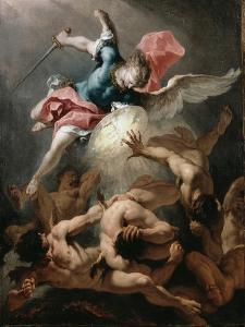 The Fall of the Rebel Angels, C.1720 by Sebastiano Ricci