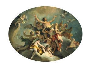 The Glorification of St Sebastian, Late 17Th/Early 18th Century by Sebastiano Ricci