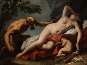 Venus and Satyr by Sebastiano Ricci