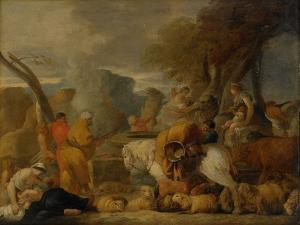 Abraham in Egypt by Sébastien Bourdon