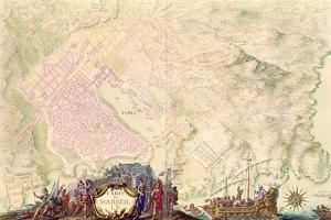 Louis XIV Atlas, Map and Plan of Marseille, 1683-88 by Sebastien Le Prestre de Vauban