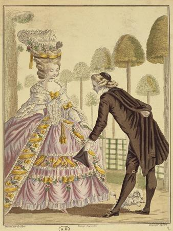 Meeting of the Knight Des Grieux and Manon Lescaut in Amiens