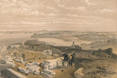 Sebastopol from Old Chersonese and Ancient Church of St Vladimir, 1856-William Simpson-Giclee Print