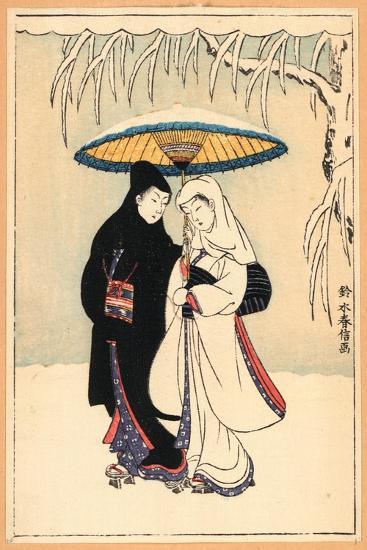 Secchu Aiaigasa-Suzuki Harunobu-Giclee Print