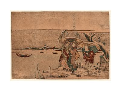 Secchu Sanbashi No Geinin-Kikukawa Eizan-Giclee Print
