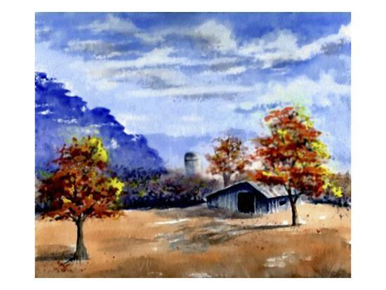 Secluded Barn in Meadow-Rich LaPenna-Giclee Print