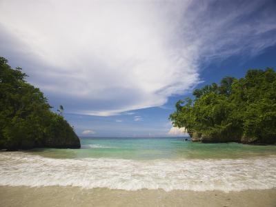 Secluded Beach at Frenchman's Cove, Jamaica-Michael Melford-Photographic Print