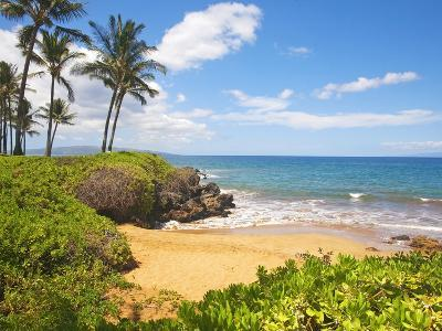 Secluded Po'olenalena Beach on Maui-Ron Dahlquist-Photographic Print