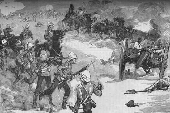 'Second Battle of Kassassin (September 9): Capture of Two Krup Guns by the Royyal Marines', c1882-Unknown-Giclee Print