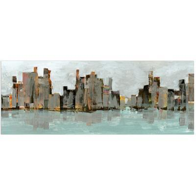 Second City Abstract Chicago Skyline - Free Floating Tempered Glass Panel Graphic Wall Art