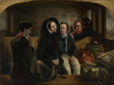 Second Class - the Parting, 1854-Abraham Solomon-Giclee Print