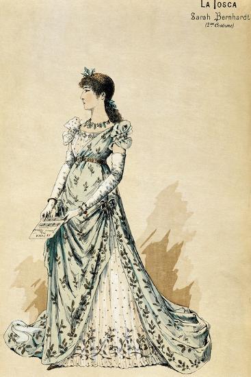 Second Costume for Actress Sarah Bernhardt--Giclee Print
