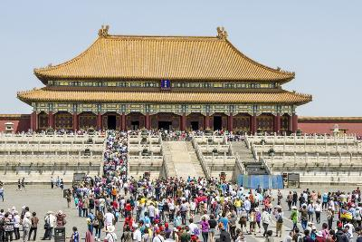 Second Courtyard and Hall of Supreme Harmony Forbidden City, Beijing China-Michael DeFreitas-Photographic Print