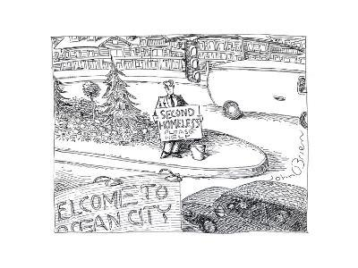 Second Homeless - Cartoon-John O'brien-Premium Giclee Print