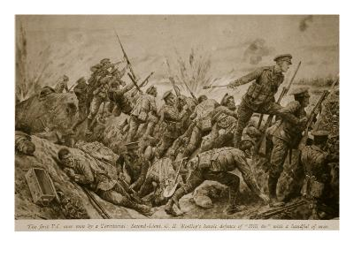 Second Lieutenant G.H. Woolley's Heroic Defence of 'Hill 60' with a Handful of Men-Richard Caton Woodville-Giclee Print