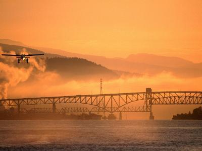 Second Narrows Bridge at Burrard Inlet in Vancouver Harbour, Vancouver, Canada-Manfred Gottschalk-Photographic Print