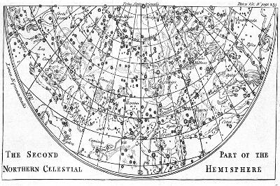 Second Part of the Star Chart of the Northern Celestial Hemisphere Showing Constellations, 1747--Giclee Print