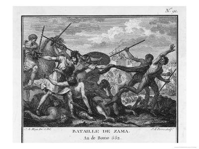 Second Punic War Scipio Africanus Defeats Hannibal at Zama in North Africa-Augustyn Mirys-Giclee Print